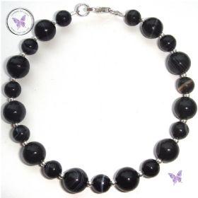 Black Sardonyx & Silver Bracelet